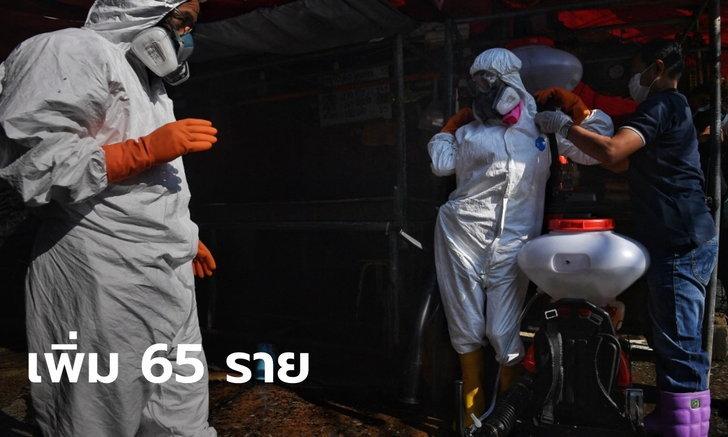 ศบค.รายงานสถานการณ์โควิดวันนี้ ไทยพบผู้ติดเชื้อ 65 ราย ป่วยสะสม 26,370 ราย