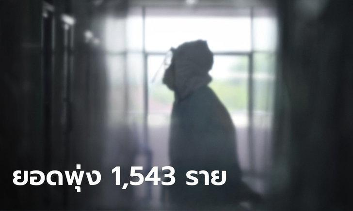 เกินต้าน! โควิดวันนี้ไทยพบผู้ติดเชื้อเพิ่ม 1,543 ราย รวมป่วยสะสม 37,453 ราย