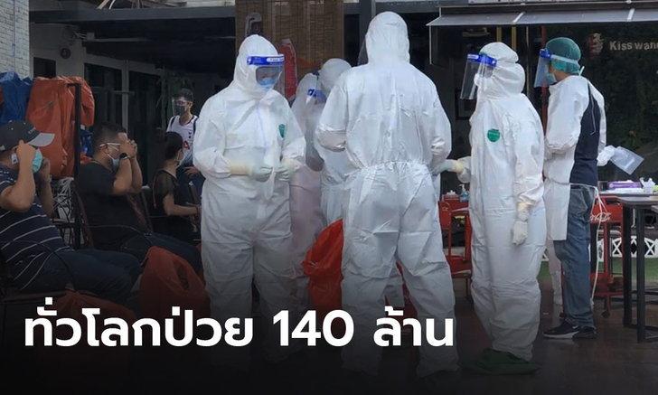 ทั่วโลกป่วยโควิดทะลุ 140 ล้าน เสียชีวิตกว่า 3 ล้าน