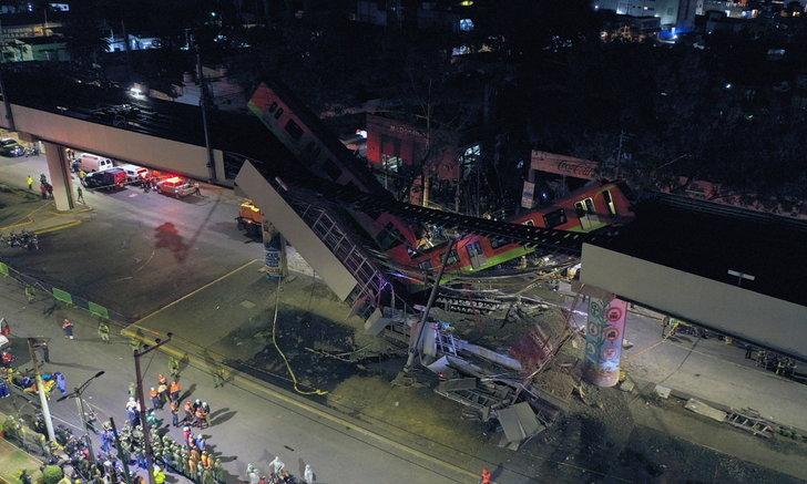 ดับ 13 ศพ! ทางรถไฟยกระดับในกรุงเม็กซิโกซิตี้พังถล่ม บาดเจ็บราว 70 ราย