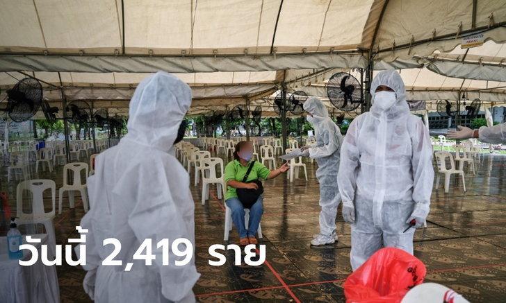 ไม่แผ่วเลย! วันนี้ไทยติดเชื้อเพิ่ม 2,419 ราย เสียชีวิตเพิ่ม 19 ราย ป่วยสะสมเกิน 8 หมื่นราย