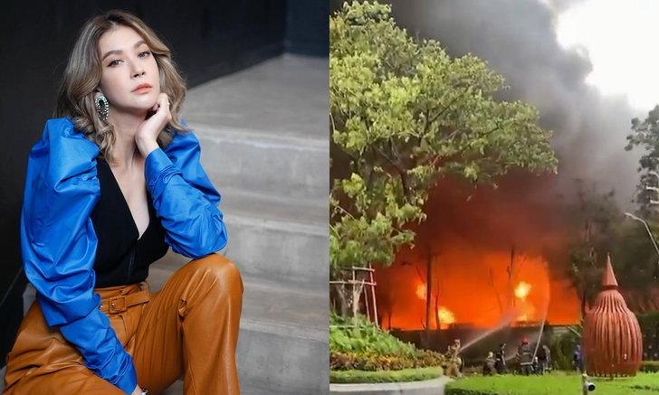 """ผวาเลย """"เอมี่"""" โพสต์คลิปไฟไหม้โรงงานพลาสติก เปลวเพลิงโหมใกล้รั้วหมู่บ้านเพื่อนสนิท"""