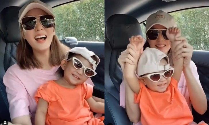 """""""เจนี่"""" ชวนน้องโนล่าเต้นในรถ แม่ลูกเข้าสู่วงการ TikTok ทั้งเท่ทั้งน่ารัก"""