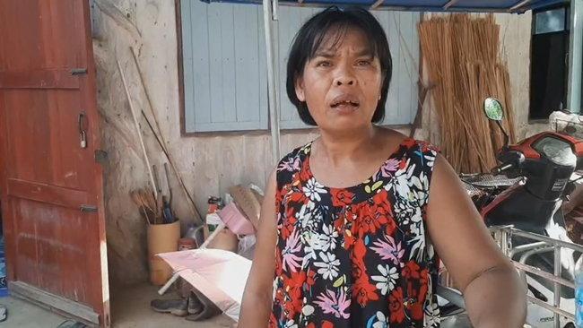 นางสนอง เต็มกิ่ง อายุ 53 ปี ป้าของน้องน้ำค้าง