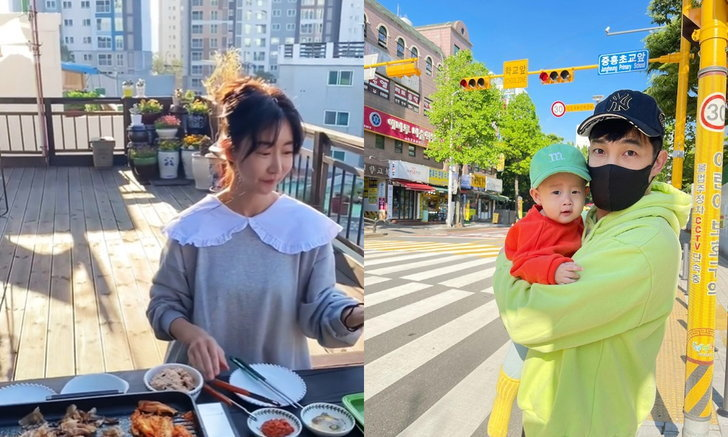 """""""อ้วน รังสิต"""" พาชมบรรยากาศบ้านภรรยาที่เกาหลี นั่งกินปิ้งย่างริมระเบียงกับวิวหลักล้าน"""
