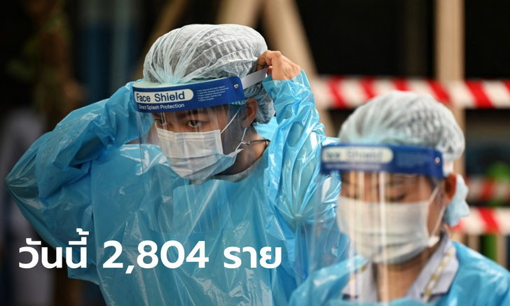 โควิดวันนี้ ไทยติดเชื้อเพิ่ม 2,804 ราย ดับอีก 18 ราย ขณะที่ยอดหายป่วย 4,143 ราย