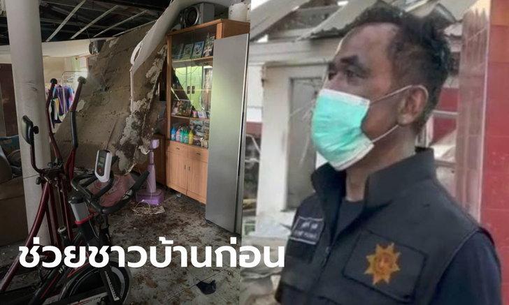 ผู้ใหญ่บ้านปิดทองหลังพระ โรงงานกิ่งแก้วระเบิดบ้านพังยับ แต่ช่วยคนอื่นก่อนจนเกือบตาย