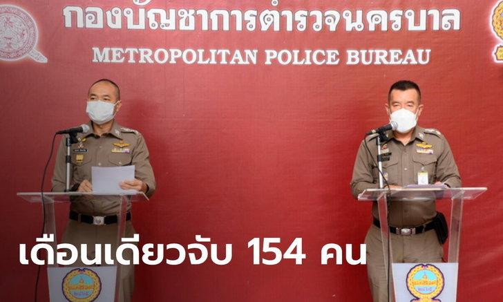 เรื่องนี้สำคัญ! ตำรวจแถลงเดือน ก.ค. จับแล้ว 8 ม็อบ ผู้ต้องหา 154 คน