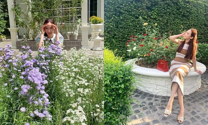 """สวรรค์บนดิน ส่องสวนดอกไม้ บ้าน """"อั้ม พัชราภา"""" เขียวชอุ่ม สดชื่น ชวนผ่อนคลายสุดๆ (คลิป)"""