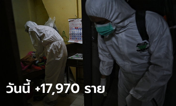 ยอดยังสูง! โควิดวันนี้ ไทยพบผู้ติดเชื้อเพิ่ม 17,970 ราย เสียชีวิตอีก 178 ราย