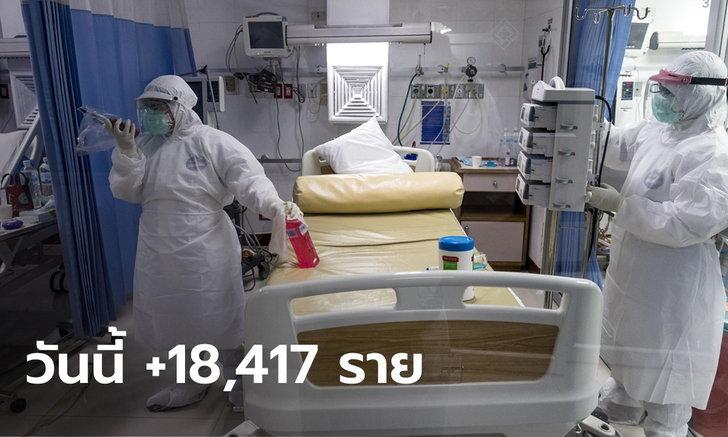 โควิดวันนี้ ติดเชื้อเพิ่ม 18,417 ราย เสียชีวิตอีก 297 ราย ยอดตายสะสมทะลุหลักหมื่น