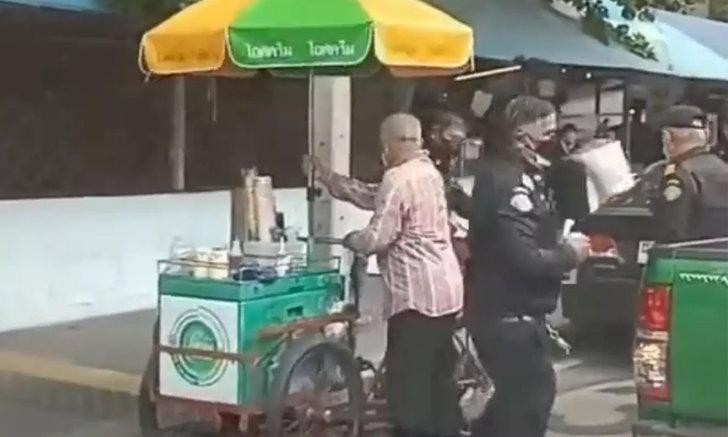 """""""ไผ่ทอง"""" ออกแถลงการณ์ขอโทษเขตดินแดง ปมดราม่าเทศกิจยึดของลุงขายไอศกรีม"""