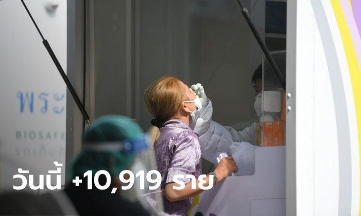 ลดต่อเนื่อง! โควิดวันนี้ ไทยพบติดเชื้อเพิ่ม 10,919 ราย เสียชีวิตอีก 143 ราย