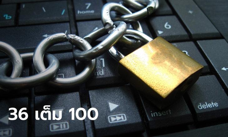 """จัดอันดับประเทศที่มี """"เสรีภาพในอินเตอร์เน็ต"""" ไทยคะแนนสุดแย่ ได้คะแนน 36 เต็ม 100"""