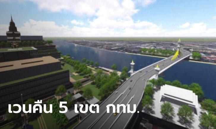 """ครม. เคาะแล้ว เวนคืนที่ดิน 5 เขต เตรียมสร้าง """"สะพานเกียกกาย"""" ข้ามเจ้าพระยา"""