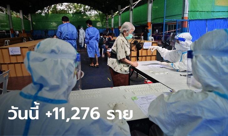 ยอดเพิ่มต่อเนื่อง! โควิดวันนี้ ไทยพบติดเชื้อเพิ่ม 11,276 ราย เสียชีวิตอีก 112 ราย