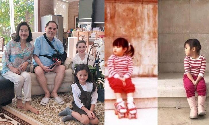 """""""แอฟ ทักษอร"""" โพสต์รูปตอนเด็กเทียบ """"น้องปีใหม่"""" คุณปู่ยังมาคอมเมนต์"""