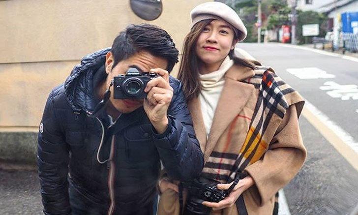 """มาแล้วรูปคู่ """"เชียร์ ฑิฆัมพร"""" ควง """"ไฮโซบิ๊ก"""" เที่ยวญี่ปุ่น"""