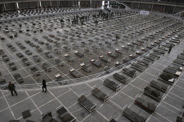 กองทัพเซอร์เบียผุด รพ.ชั่วคราว 3 พันเตียง ภายในศูนย์แสดงสินค้า ตามคำแนะนำแพทย์จีน