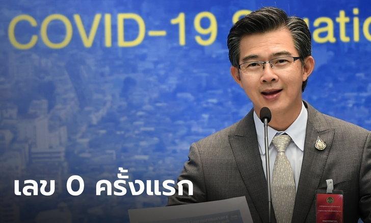 เหลือ 0 ครั้งแรก! ศบค.แถลง วันนี้ไทยไม่พบติดเชื้อโควิด-19 และไม่มีผู้เสียชีวิตเพิ่ม