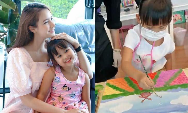 """""""น้องเจ้าขา"""" ฝีมือไม่ธรรมดา โชว์สกิลวาดภาพสีน้ำ อายุแค่ 4 ขวบ แต่เก่งมากจริงๆ (คลิป)"""