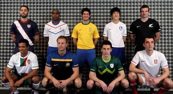 ไนกี้เปิดตัวชุดแข่ง 9 ชาติลุยบอลโลก