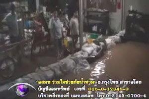 น้ำแม่แก่ง-แม่น้ำวังทะลักท่วม 4 หมู่บ้านลำปาง