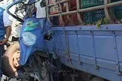 รถบรรทุกซิ่งชนประสานงา ดับ 2 ศพ รถติดยาว 4 กม.