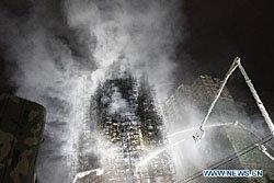 ระทึก! เพลิงไหม้ตึกสูง 28 ชั้น เมืองเซี่ยงไฮ้