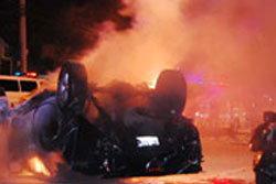 สยอง!!อุบัติเหตุรถชน 4 คันรวดไฟลุกท่วมถนน