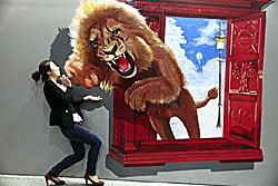 เหมือนจริง! ภาพวาด4มิติ จากหอศิลป์ฯจีน