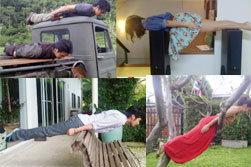 ดาราืำทำ Planking ท่าแกล้งตาย