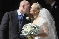 ซารา ฟิลลิปส์ พระนัดดาควีนเอลิซาเบธ เข้าพิธีเสกสมรส