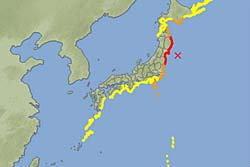 ดินไหวญี่ปุ่น8.8ริกเตอร์โตเกียวรู้สึกได้