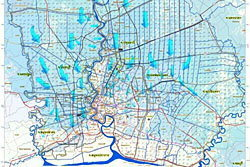 เปิดแผนที่ทหาร กทม.เขตไหน รอดน้ำท่วม