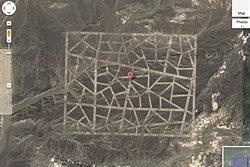 เผยภาพสิ่งก่อสร้างประหลาดกลางทะเลทรายจีน