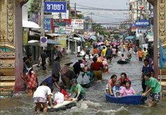 รศ.เสรี เผยอ.สามโคก จ.ปทุมธานี  น้ำยังท่วมถึงสิ้นเดือนนี้