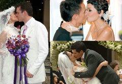 ดาราแต่งงานกับจูบที่ดูดดื่ม