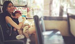 แม่พลอยจัดให้ น้องทาชิโน่อยากนั่งรถเมล์