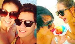 วี๊ดวิ้ว!! คู่รักดารา โชว์หวานริมหาด