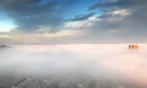 ฟ้าหลังฝน ทะเลหมอกเหนือนครฉงชิ่ง เมืองจีน