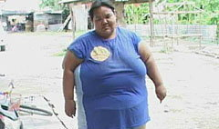 สาวอ้วนหนัก 180 กก. ช่วยแม่ทำงานเลี้ยงพ่อป่วยอัมพฤกษ์