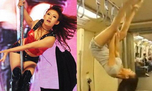 สาวเต้นรูดเสารถไฟฟ้าใต้ดิน ที่แท้ วุ้นเส้น ไทยแลนด์ก็อตทาเลนต์