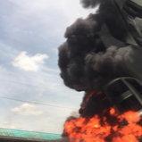 รถชนไฟไหม้