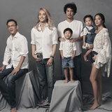 ครอบครัว จาฤก กัลย์จาฤก, เต้ ปิยะรัฐ, เต๊นท์ กัลป์ และ พลอย ภรรยาพร้อมด้วยลูกๆ