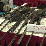 ไม่น้อยหน้า-โรงพักสกลฯ แถลงกวาดล้างอาชญากรรมจับทรชนกว่า 50 ราย ยึดยาเสพติด-ปืนเพียบ