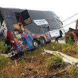 รถบัสทัศนศึกษาพลิกคว่ำ
