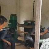 โคราช-ชาวบ้านบุกโรงสูบน้ำ ร้องชลประทานชี้แจงเครื่องสูบชำรุดซ้ำซาก ไม่มีน้ำทำเกษตร