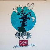 ภาพวาด ตูน บอดี้สแลม ที่โรงพยาบาลบางสะพาน