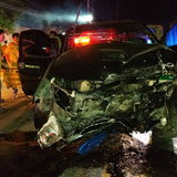 ชนสนั่น! อุบัติเหตุรถชน 3 คันซ้อนใกล้โรงไฟฟ้าวังตาผิน เจ็บ 1 ดับ 2 ราย